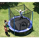 8' Durable, Rust-Resistant Steel, Trampoline Combo, Blue