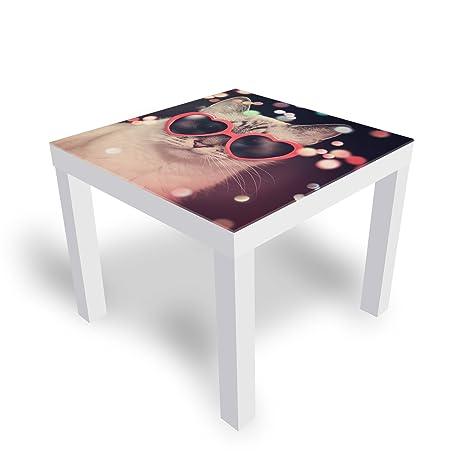Piano Tavolo Vetro Ikea.Dekoglas Ikea Lack Tavolino Da Salotto Con Piano In Vetro Motivo