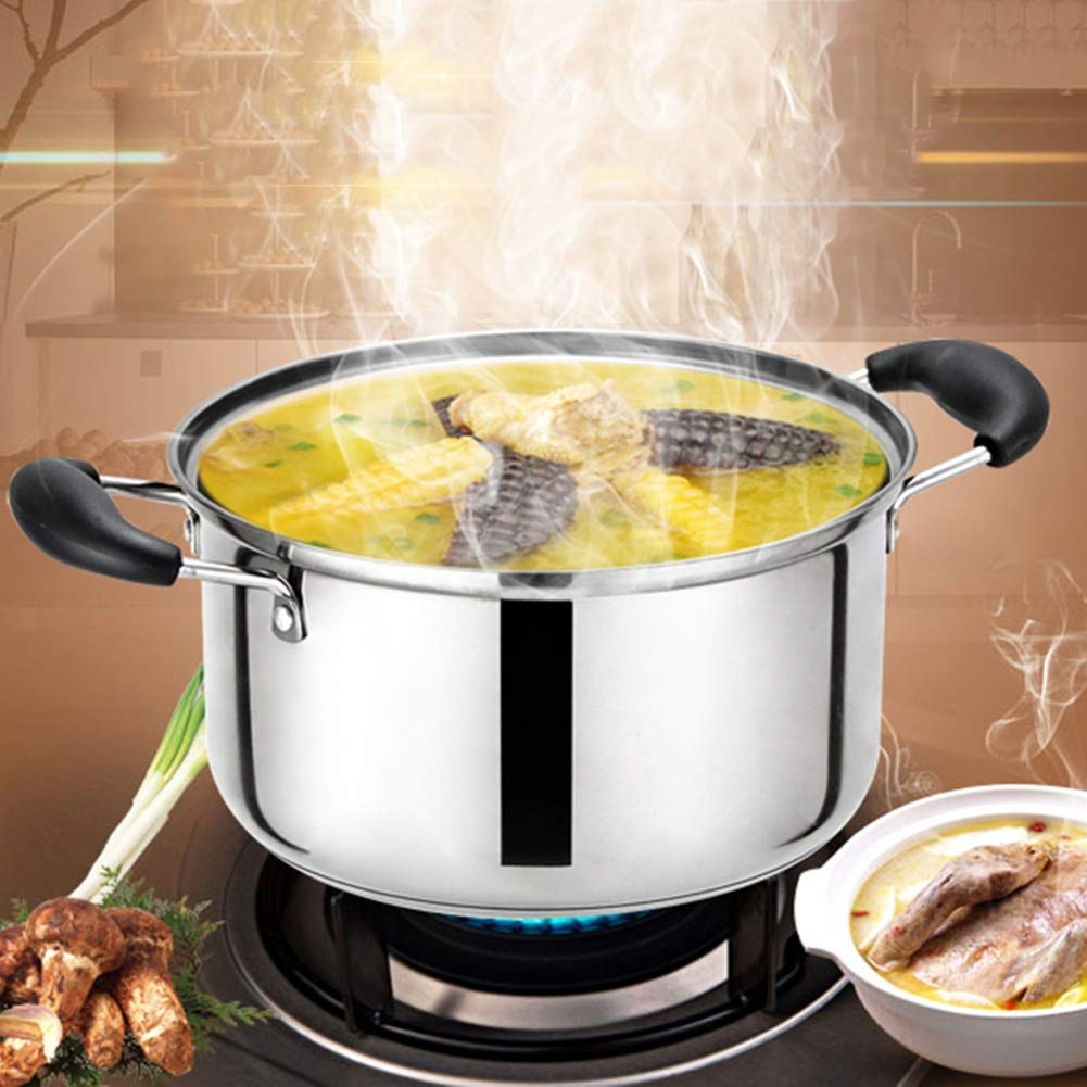 Amazon.com: Milk Pot Pans Milk Pan Glass Cover Non-stick Pan Cookware Kitchen Dining Silver Food Grade Stainless Steel Non-stick Pan ZHANGAIZHEN (Size ...