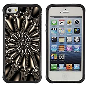 "Pulsar iFace Series Tpu silicona Carcasa Funda Case para Apple iPhone SE / iPhone 5 / iPhone 5S , Modelo espiral del arte del papel pintado Diseño Universo"""