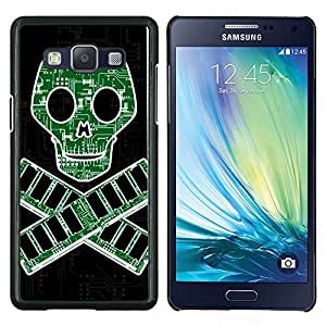 GIFT CHOICE / Teléfono Estuche protector Duro Cáscara Funda Cubierta Caso / Hard Case for Samsung Galaxy A5 A5000 // Circuit Board Danger Skull Nerd //