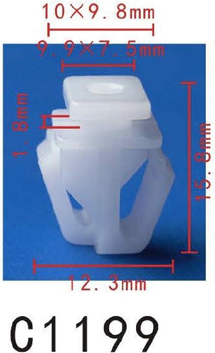 20 Body Side Moulding Clip Plastic Retainer 10mm x 12mm For Honda 90679-692-0030