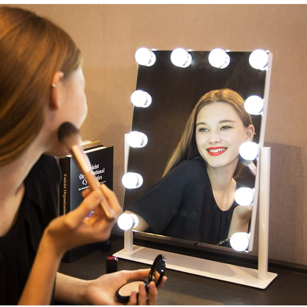 Amazon.com: Dr.Lefran Hollywood LED Makeup Mirror, Portable Vanity Makeup Mirror with 12 Dimmable Bulbs, Professional Illuminated Cosmetic Mirror, ...