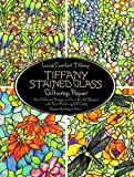 """Tiffany Stained Glass Giftwrap Paper: Four Different Designs on Four 18""""X24"""" Sheets with Four Matching Gift Cards"""