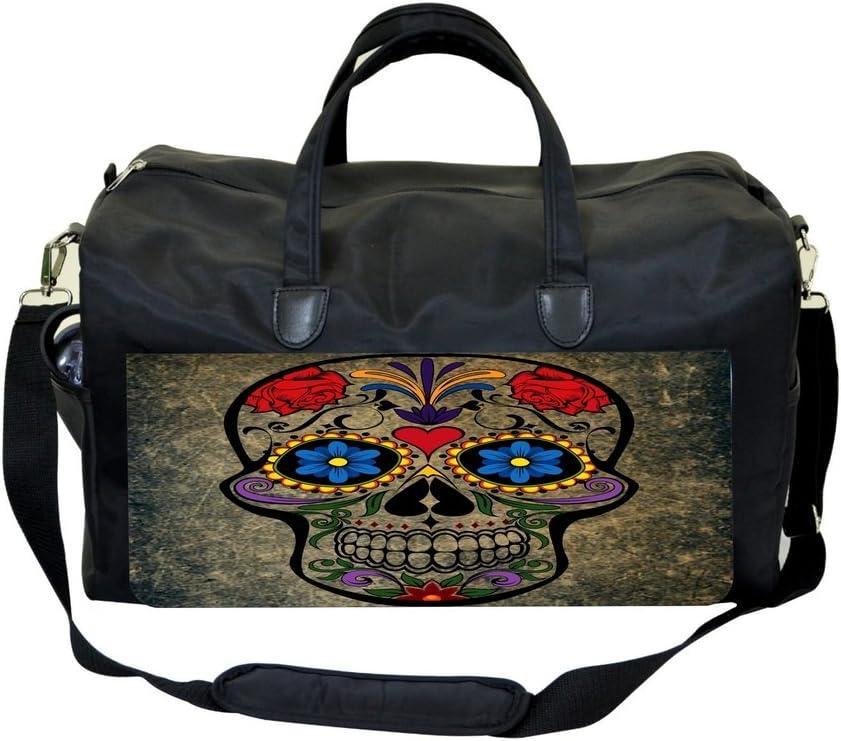 Grunge Sugar Skull Print Design Sports Bag