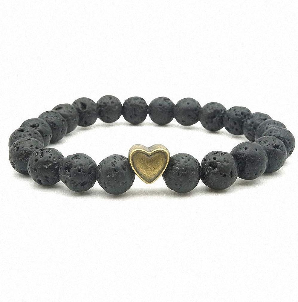 Hynsin Womens Bracelet 5 Styles Tree of Life Paw Charms 8mm Black Lava Stone Beads DIY Aromatherapy Essential Oil Diffuser Bracelet Yoga Strand Jewelry