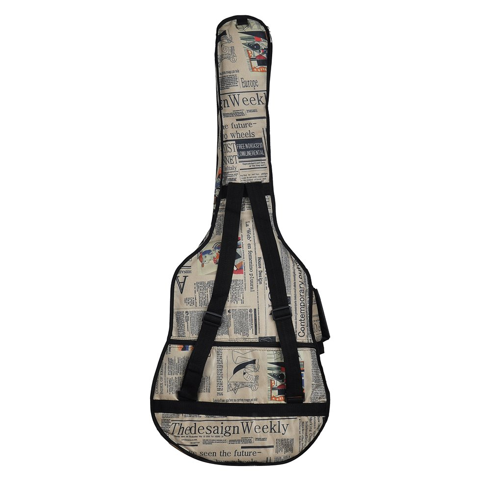 GEEDIAR® Alta Calidad de Tela 600D Oxford Impermeable Estilo Correas Acolchadas Guitarra Bolsa Funda para 41 / 42 Pulgadas/105CM Guitarra Eléctrica Clásica: ...