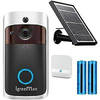 Igreeman Video Doorbell WiFi IP Security Camera, Wireless Powered 720P Realtime Smart Watchdog Surveillance System w…