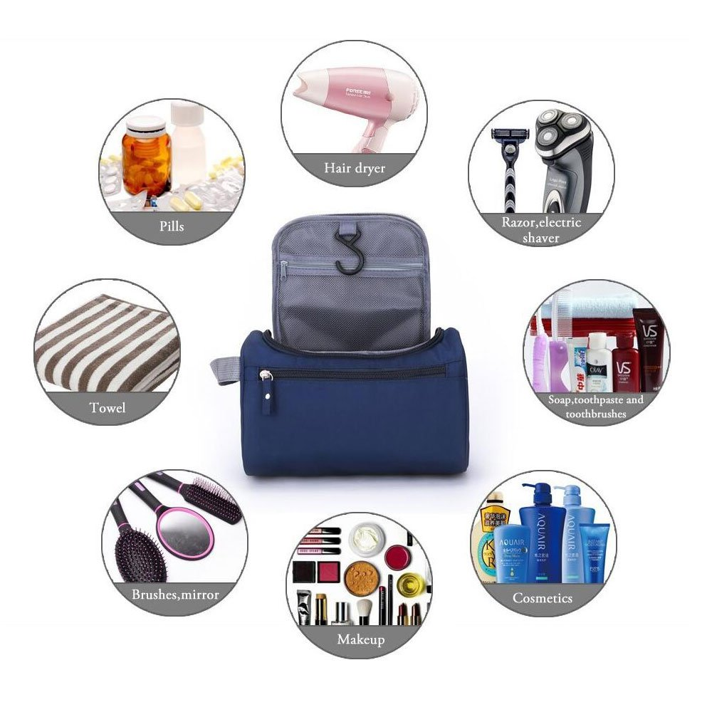 d78fefeb6633 Amazon.com   ONEGenug Toiletry Bag Overnight Wash Bag Hanging Gym Shaving  Bag for Men and Women Ladies Travel Blue   Beauty