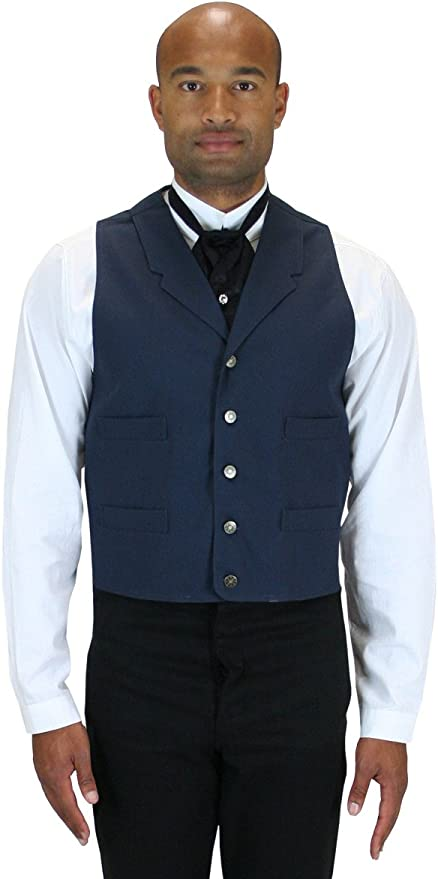 Victorian Men's Vests and Waistcoats Historical Emporium Mens Abilene Cotton Work Vest $68.95 AT vintagedancer.com