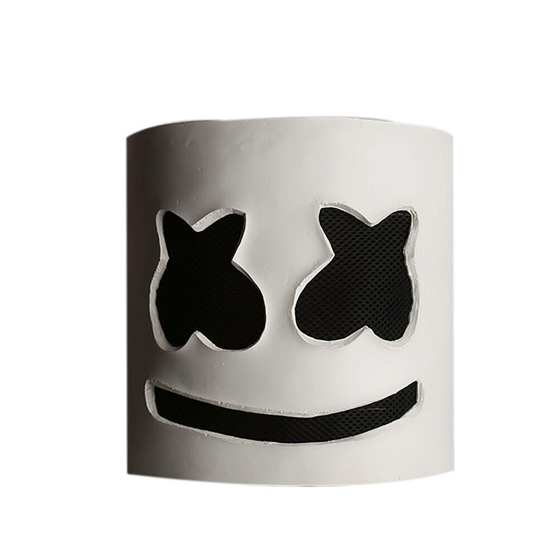Moniku Halloween DJ Mask Party Props Helmet Hard Latex Solid Masks