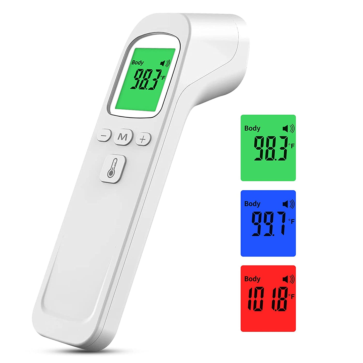 Forehead Thermometer Pro Digital Infrared Thermometer for Kids and Adults Non-Contact Digital IR Infrared Forehead Thermometer with Instant Accurate Reading Fever Alarm and Memory Function