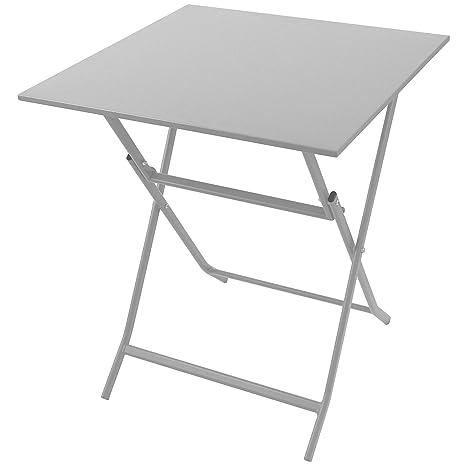 Tavolo Giardino Metallo Pieghevole.Tavolo In Metallo 60 X 60 Cm Bianco Tavolo Pieghevole Tavolo