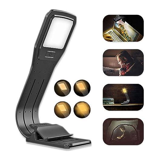 Lámpara LED USB Recargable Lectura Nocturna Flexible Brillo de 4 ...