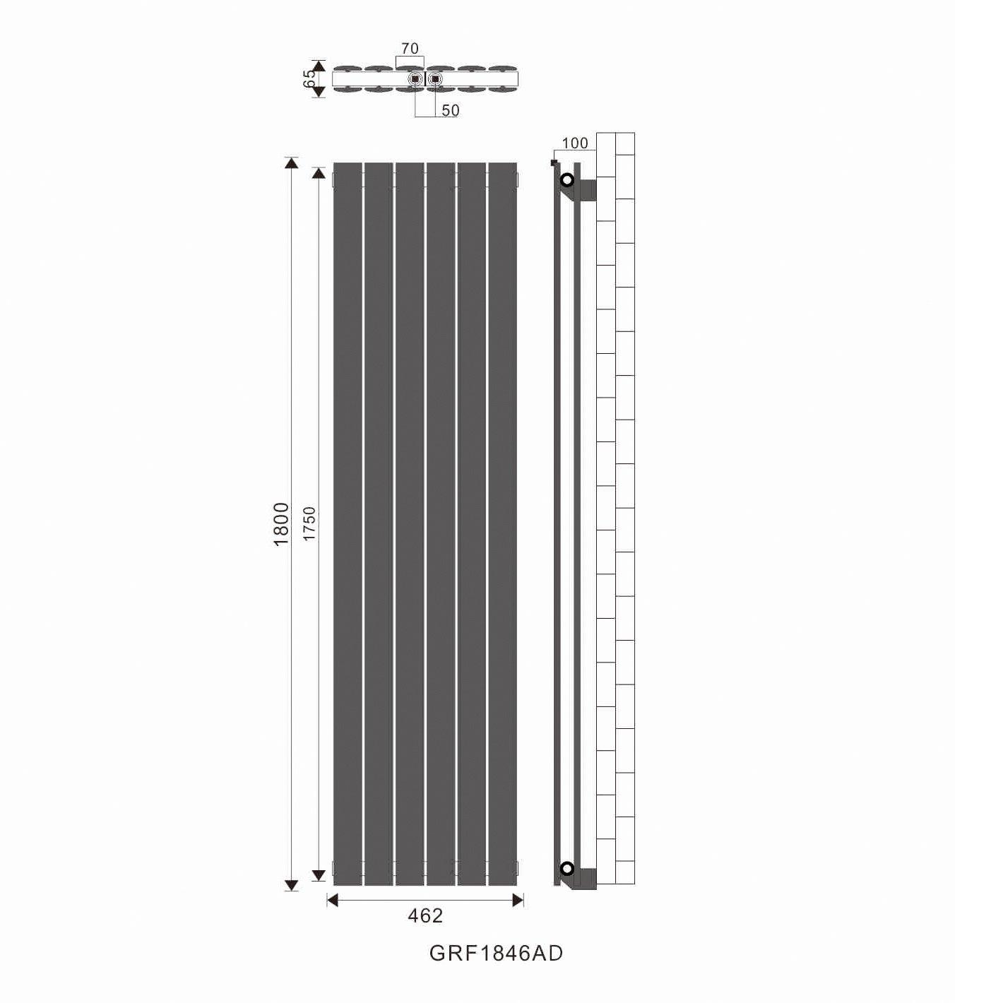 ELEGANT/Design/Flach/Heizk/örper/1800/x/539/mm/Wei/ß/Badheizk/örper/Einlagig/Heizkoerper/Vertikal/Paneelheizk/örper