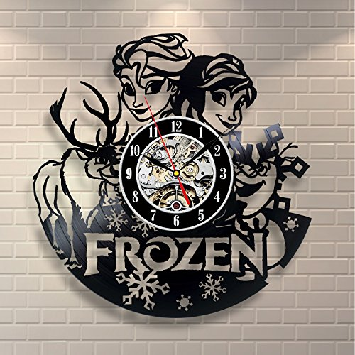 Frozen Wall Vinyl Record Clock Room Art Home Decor
