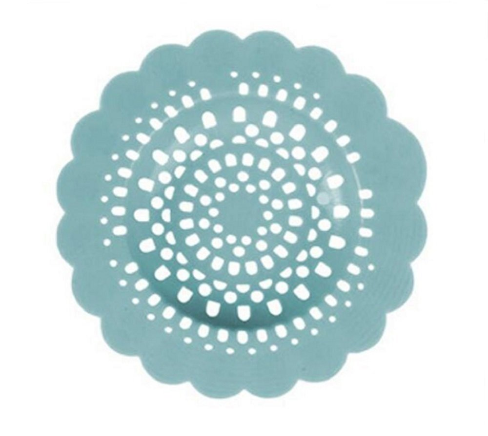 Hosaire Tub Drain Protector Silicone Flower Shape Drain Cover Hair Catcher/Strainer/Snare for Showers or Bathtubs Blue