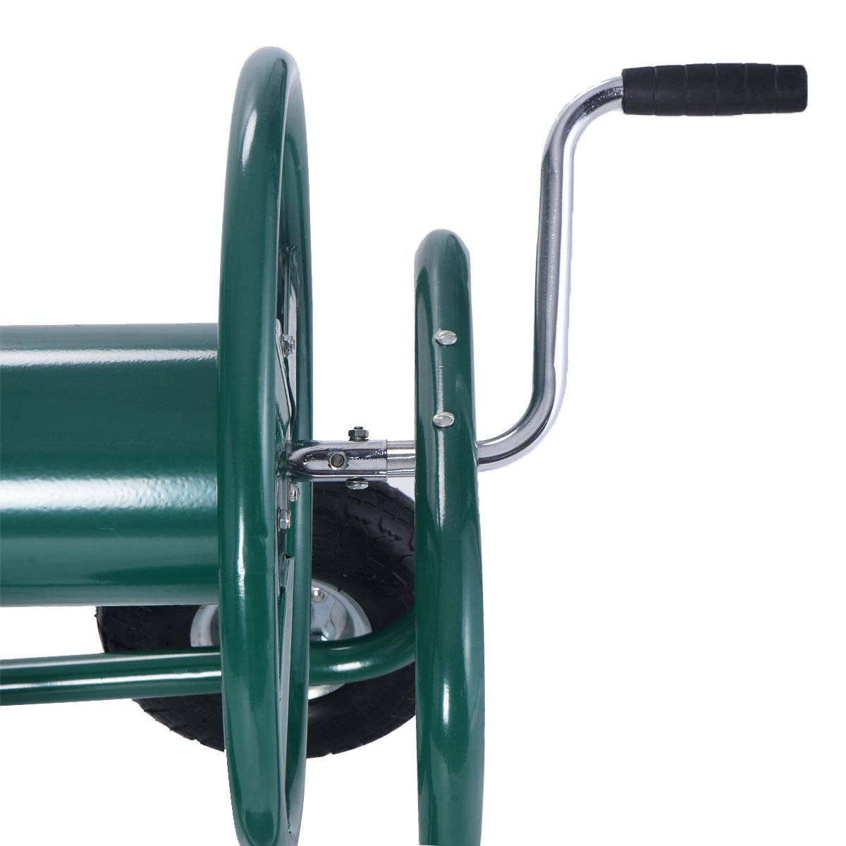 Wakrays Garden Water Hose Reel Cart 300FT Outdoor Heavy Duty Yard Planting W/Basket New by Wakrays (Image #6)