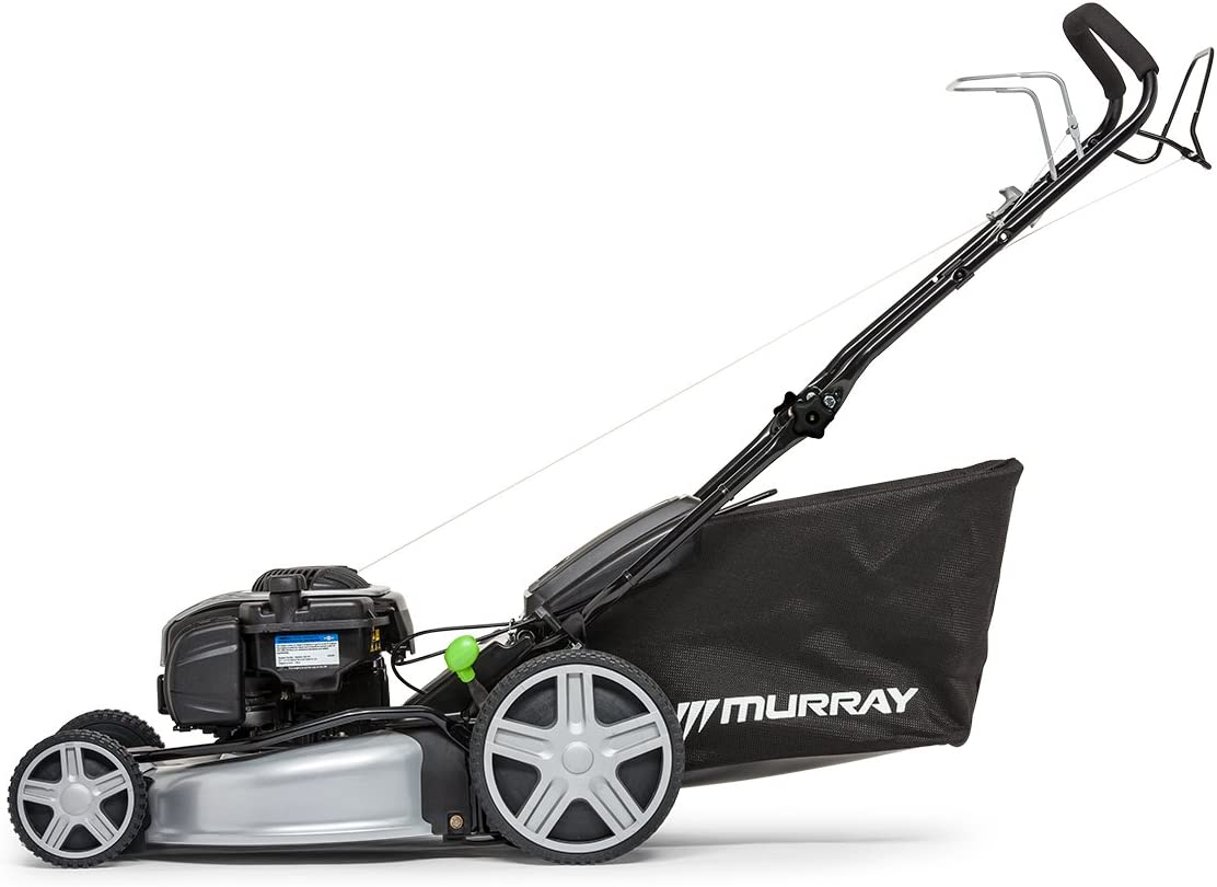 Murray 2 x 18 V 5 Years Warranty Lithium-Ion 44 cm Cordless Lawn Mower IQ18WM44 Including 2 x 5 Ah Battery and Dual Charger+18V Lithium-Ion Grass Trimmer Body IQ18GT 30cm Cutting Width 36 V