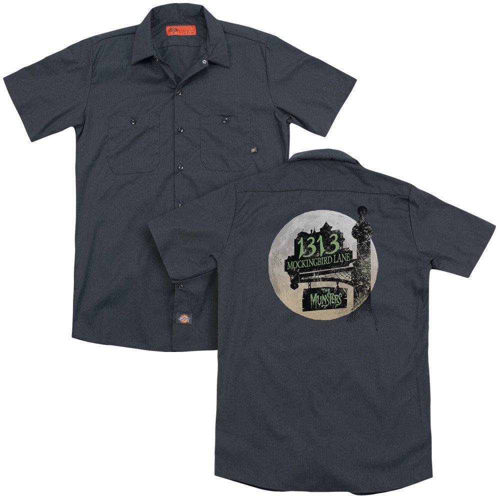Moonlit Address Adult Work Shirt The Munsters