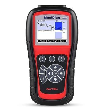 Autel MaxiDiag MD805 (MD802 Maxidiag Elite Full System) Lector de códigos OBD2 herramienta de diagnóstico Soporta OLS/EPB/Transmisión/Airbag + CAN OBDII ...