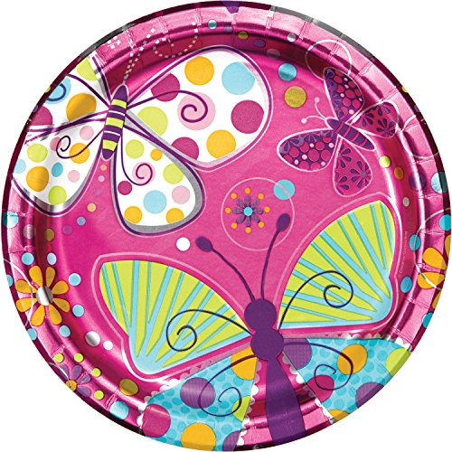 Foil Butterfly Paper Plates, 24 ct