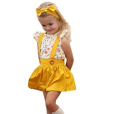 21475ba74b55 Amazon.com  SUNBIBE💕3Pcs 12M-4T Newborn Toddler Infant Baby Girls ...