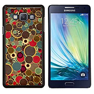 """Be-Star Único Patrón Plástico Duro Fundas Cover Cubre Hard Case Cover Para Samsung Galaxy A7 / SM-A700 ( Pintura del arte retro puntos Spots Colores vintage"""" )"""