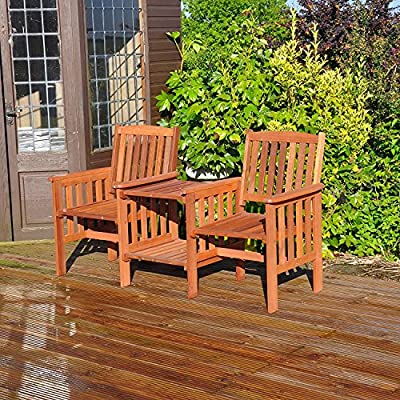 garden-mile-Acacia-Hardwood-Garden-Love-Seat-Twin-Jack-And-Jill-Seat-With-square-Table-Wooden-Garden-Bench-Companion-Seat-Set-Outdoor-Garden-Tete-a-Tete-Seat-Garden-Furniture