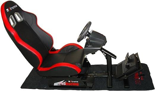 Xtreme Sedile Racing Set Reclinabile con Supporto Cambio Pedaliera e Volante - Classics - PlayStation 4 [Importación italiana]: Amazon.es: Videojuegos