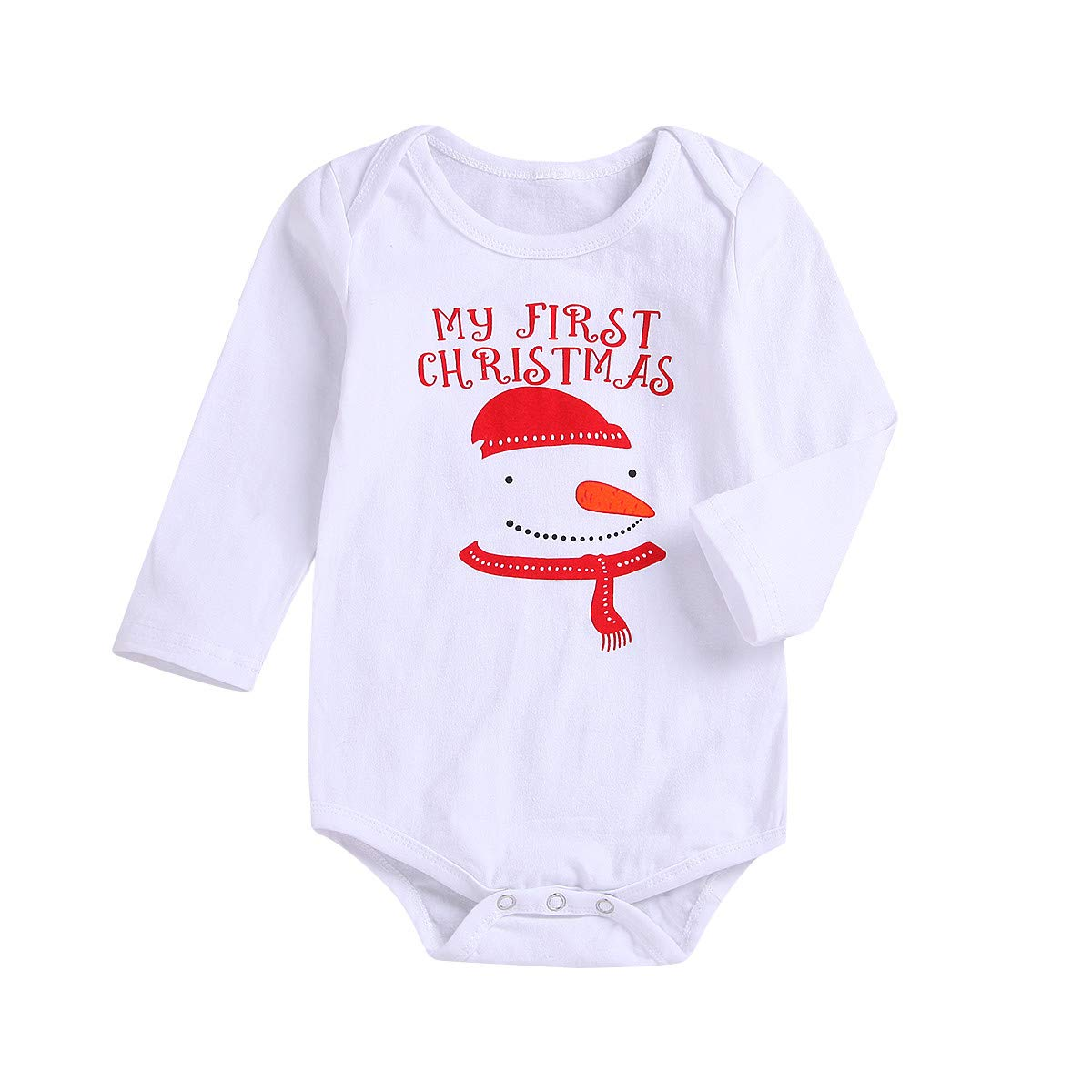 Baby Outfits Unisex Love Daddy,Newborn Baby Girls Boys Long Sleeves Snow Man Print Romper Jumpsuit Kids Clothes,Baby Girls' Boots,White,90