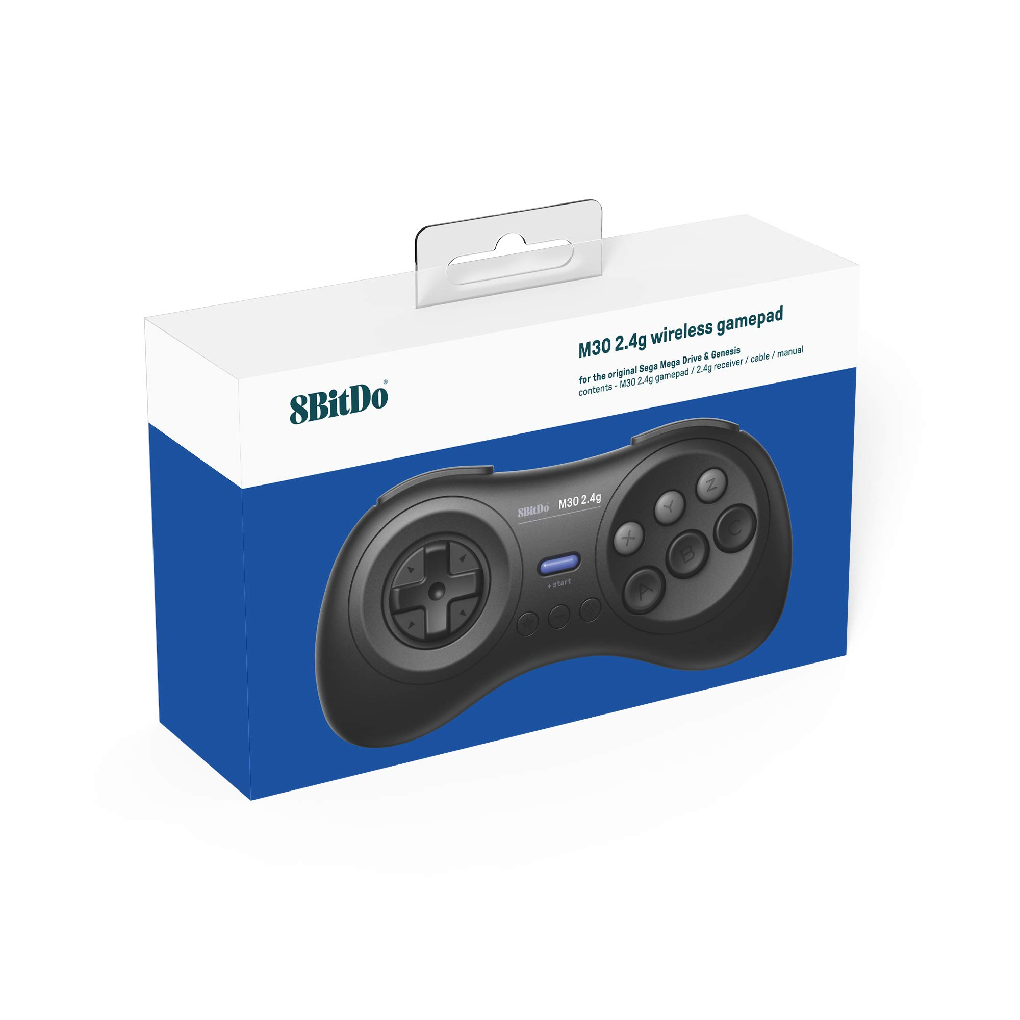 8Bitdo M30 2.4G Wireless Gamepad for the Original Sega Genesis and Sega Mega Drive - Sega Genesis,Black by 8Bitdo (Image #4)