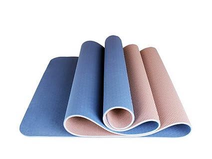 Amazon.com : TPE Yoga Mat Eco Yoga Exercise Mat 6mm Thick ...