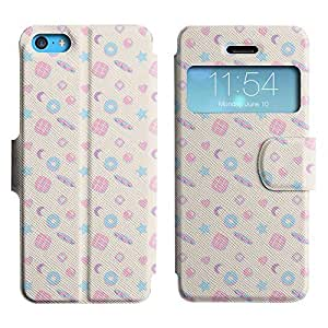 Be-Star Colorful Printed Design Slim PU Leather View Window Stand Flip Cover Case For Apple iPhone 5c ( Amazing Pattern ) Kimberly Kurzendoerfer