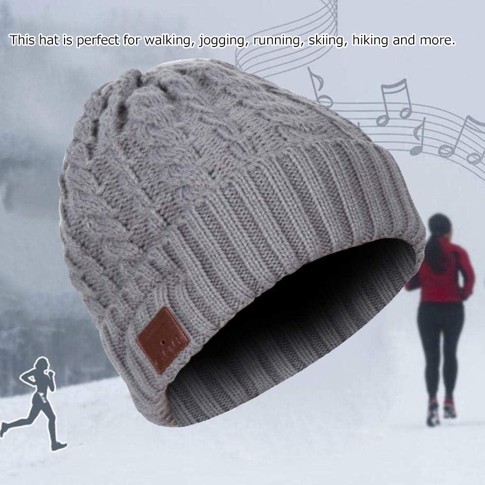 Bonnet en Laine Bonnet Hiver réduction du bruit Laine Unisexe Noir Gris Nouveau
