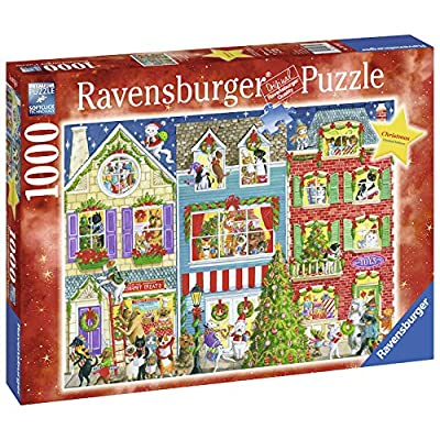 Ravensburger Christmas On Pet Street 1000 Piece Jigsaw Puzzle for Adults – Every Piece is Unique, Softclick Technology Means Pieces Fit Together Perfectly: Toys & Games