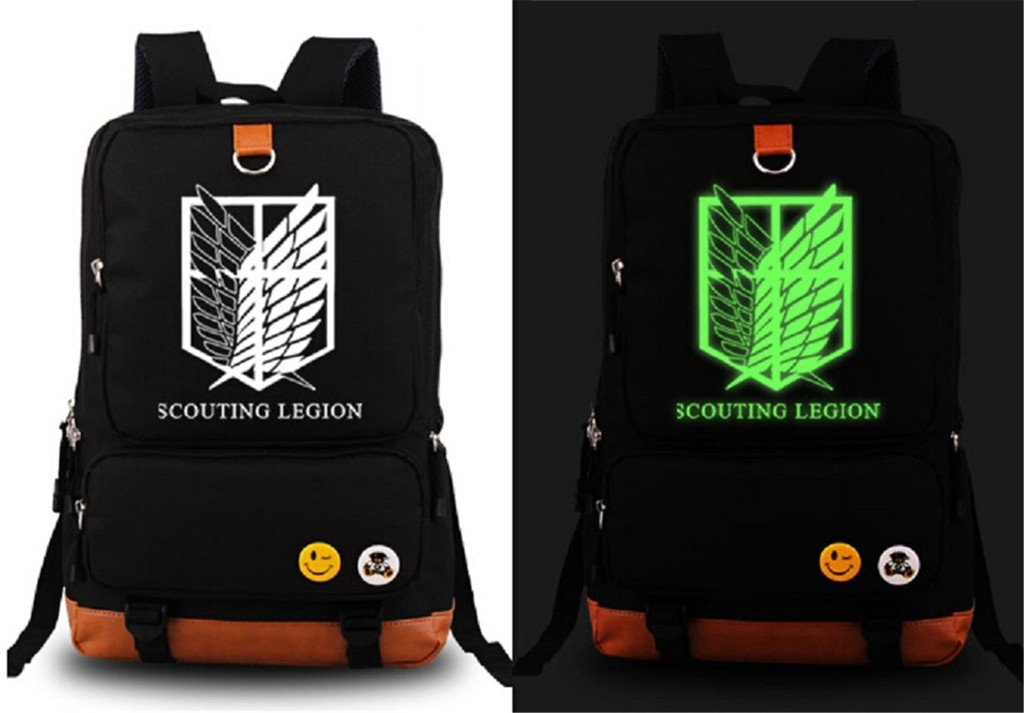 Siawasey Attack on Titan Anime Cosplay Laptop Daypack Backpack Shoulder School Bag