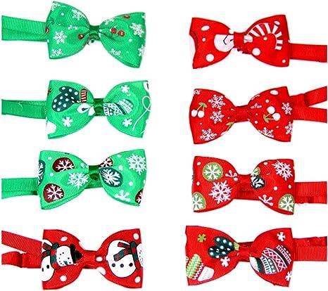 POPETPOP 8 Unids Navidad Corbata Mascota Santa Elf Copo de Nieve ...