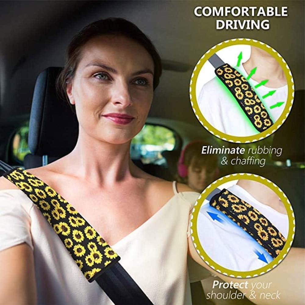 Accessori per auto con motivo teschio di zucchero Coprisedili per cinture di sicurezza Coprisedili per auto stile moda per adulti Nuovo imbottitura per cintura di sicurezza