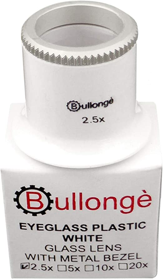 Uhrmacher-Kontroll-Lupe BULLONGÈ TB PEARL-WHITE 20x