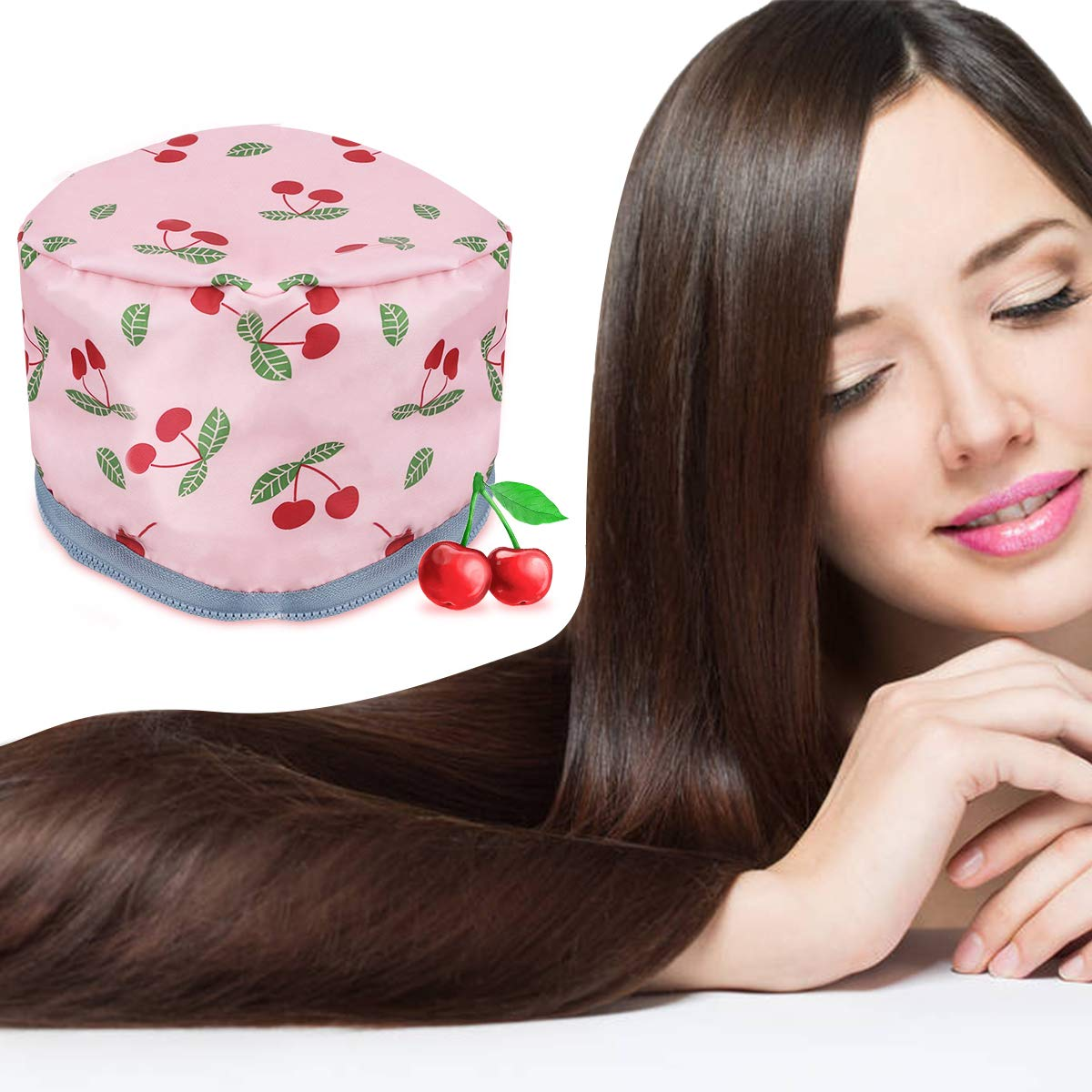 110V Hair Care Hat, GLAMADOR Electric Hair Cap, Thermal Cap For Home Hair Spa Hair Steamer Cap Beauty Nourishing Hair Care Hat with 2 Level Temperature Control