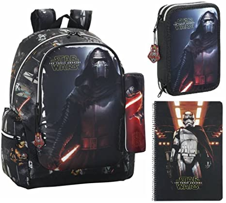 Star Wars VII Mochila, Bolsa de Plumas, Plumero y Bloque, Negro: Amazon.es: Equipaje