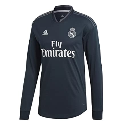 f5236f37c8d Image Unavailable. Image not available for. Color  adidas 2018 19 Mens Real  Madrid Away Authentic Long Sleeve Jersey ...
