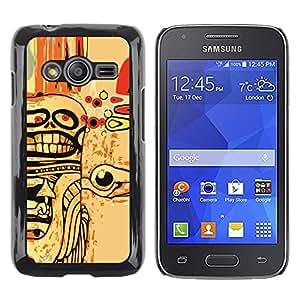 TopCaseStore / la caja del caucho duro de la cubierta de protección de la piel - Abstract Goth Skull Art - Samsung Galaxy Ace 4 G313 SM-G313F