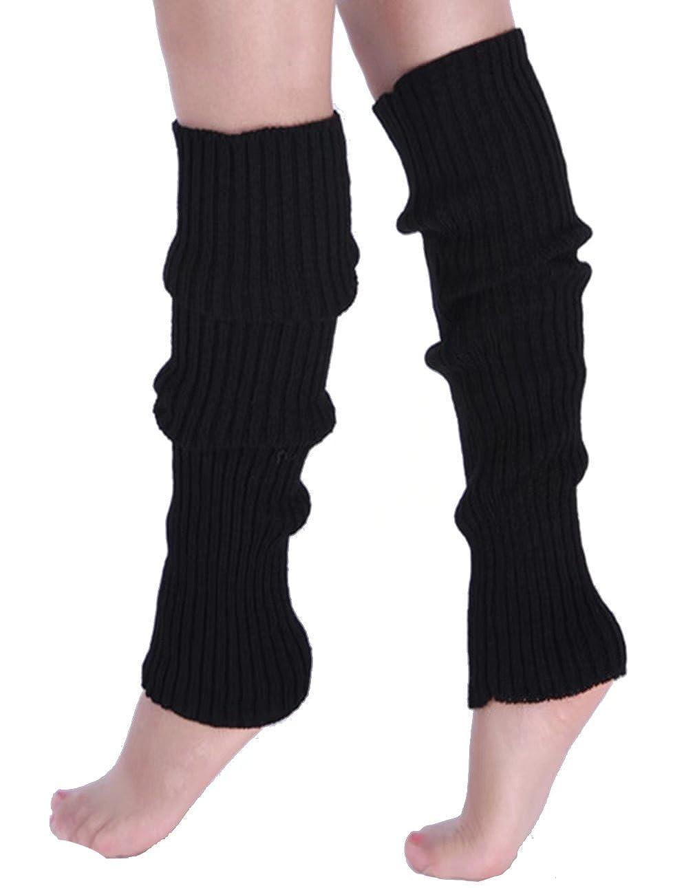 Ginocchio delle donne PreSox Cable Knit Scaldamuscoli alta per l'autunno inverno LS10020/ORG
