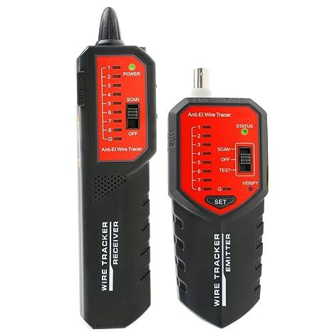 kibeland Wire Tracker caza STP UTP Cable Coaxial red teléfono RJ45 RJ11 buscador de comprobador de