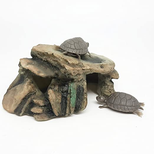 Amazon.com : Colorido Aquarium Fish Tank Turtle Reptile Island Dock Basking Platform Simulation Rock - 25222 : Pet Supplies