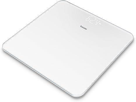 Beurer Gs 225 Bilancia Pesapersone In Vetro Con Display Led Magic Colore Bianco Amazon It Salute E Cura Della Persona