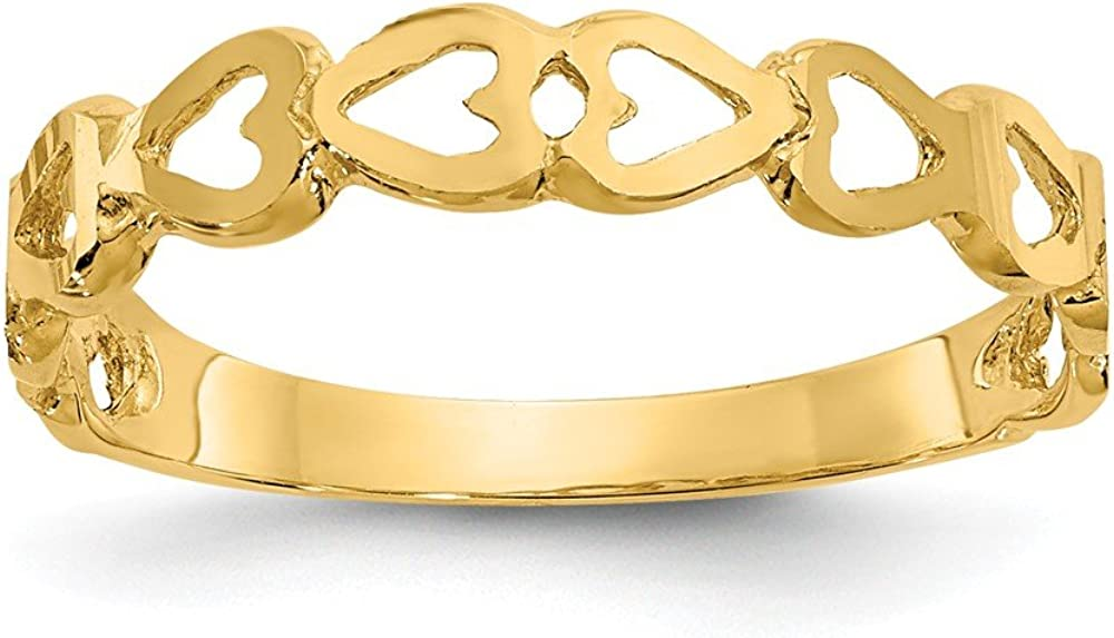 14k Heart Ring Size 6 Length Width 1 to 3