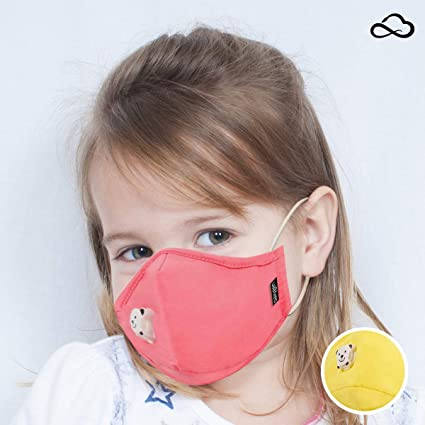 Cute Reusable Smart Mask Fashion Child For Washable Cotton Face pink